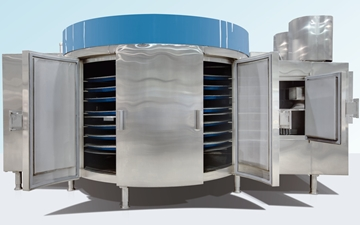 View of the CRYOLINE XF spiral freezer