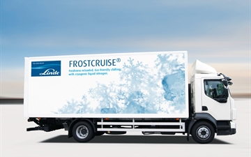 A FROSTCRUISE branded LINDE In-Transit Refrigeration Truck using Liquid Nitrogen (LIN)